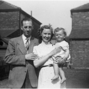 Pat and Stuart Darlington, with Keith aged 9 months