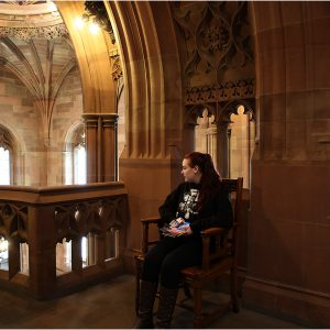 Relaxing in John Rylands Library