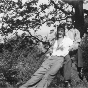 Jack Riley and Trevor Jones, Alderley Edge, 1945