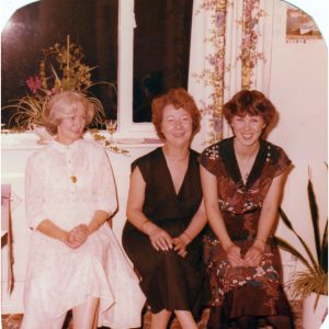Pat Darlington, friend Alma, Lesley Riley